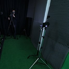 Marc Jordan et Jean Chessex au travail dans notre studio