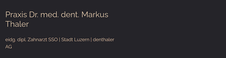 Dr. med. dent. Thaler Markus