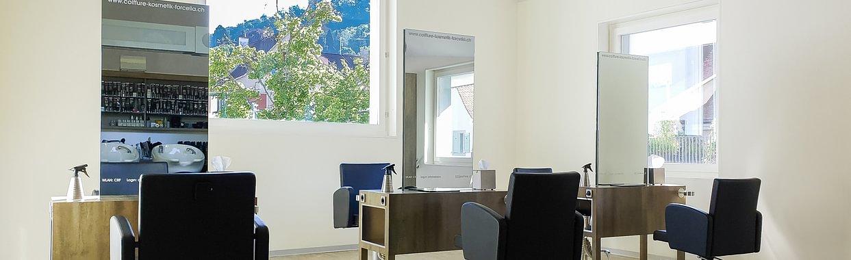 Obergeschoss mit Aussicht auf Arlesheim, die Rebberge und Schloss Birseck