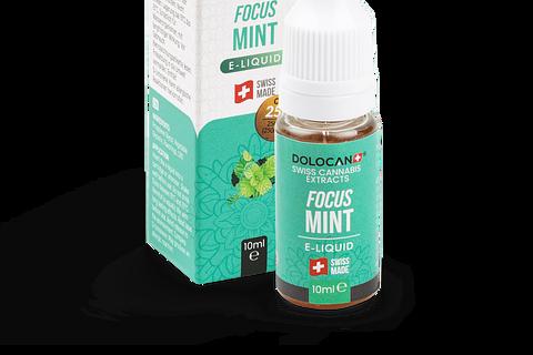 10ml-Flasche / DOLOCAN FOCUS Mint E‑Liquid 25% CBD
