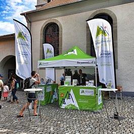 Publicity Shop - Stand extérieur et beachflag Office du tourisme