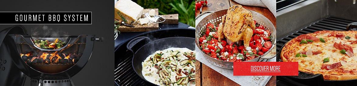 Découvrez le Gourmet Barbecue System pour équiper astucieusement votre Weber