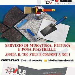 MURATURA E PITTURA: Effettuiamo pitture decorative, lavori di muratura, con esperienza e sede in Ticino eseguiamo lavori di muratura e ristrutturazioni di ogni genere, bagni, cucine, terrazzi.