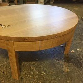 Claude Murisier - Table de salon en Cerisier Massif