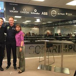 Pause pendant interview avec André Borschberg de Solar Impulse à Monaco