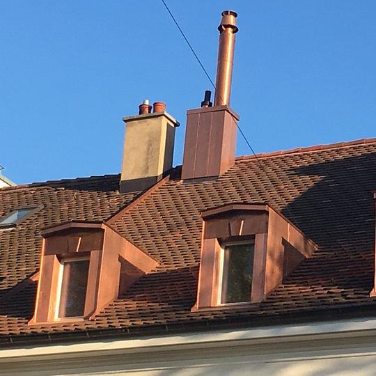 Spengler und Flachdacharbeiten Leimenstrasse Basel.