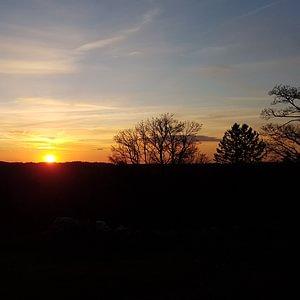 Coucher de soleil depuis la Métairie