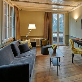 Junior Suite Wohnbereich Hotel Spinne Grindelwald