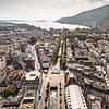 Stadt Biel, Zentrum/Ville de Bienne, centre (Luftaufnahme/Vue aérienne)