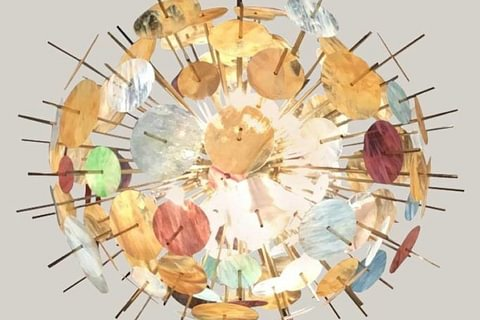 """Big Bang"" Murano Glass Chandelier - 1990"