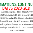 Formations Continues 2020-2021