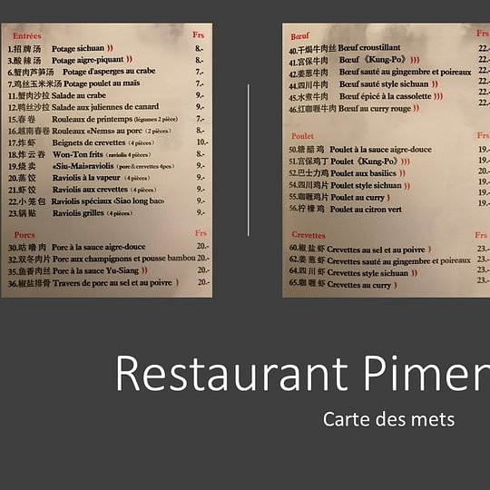 Restaurant Piment Rouge