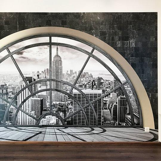 Der Ausblick auf die Skyline von New York gibt dem Behandlungsraum eine besondere Ambiance