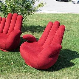 Fingersofa und Sessel Hand neu beziehen