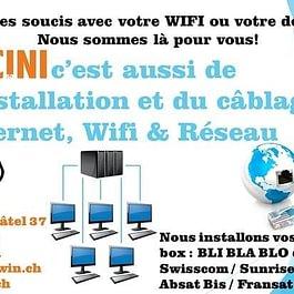 Câblage, WIFI, WLAN et internet