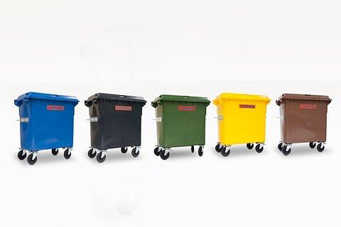Kunststoffcontainer 770lt mit Fusspedal (alle Farben)