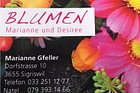 Blumen Gfeller Marianne