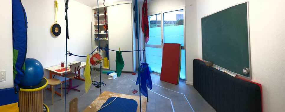 Una sala del Centro Ergoterapia Pediatrica CEP Bellinzona e Acquarossa