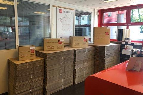 Vente de cartons et matériel d'emballage