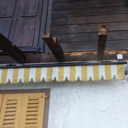 Rénovation d'un balcon sur un chalet