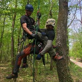 Entrainement sauvetage sur corde