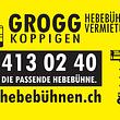 Wir vermieten auch Hebebühnen: grogg-hebebuehnen.ch