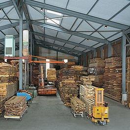 Klimatisiertes Holzlager