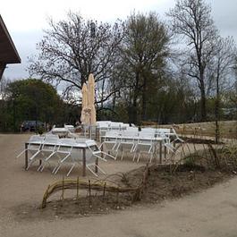 Le Vaud :  Zoo de la Garenne terrasse extérieures