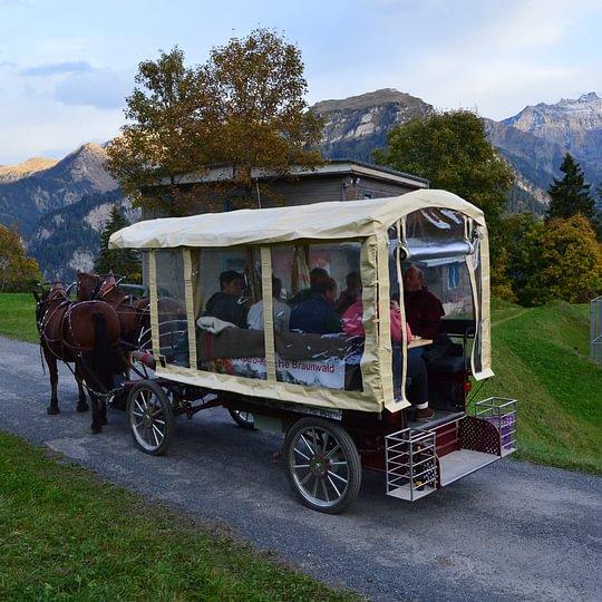 Die Fondue-Kutsche mit Elektro Unterstützung!