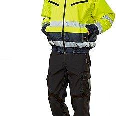 Giubbotto Alta Visibilità + Pantalone Stretch multi-tasche