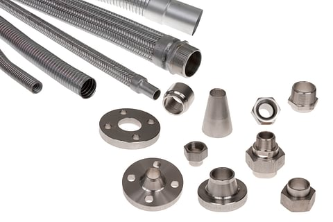 Tubi in acciaio INOX, corrugato e PTFE