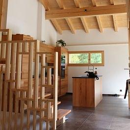 Charpente bois neuf, escaliers