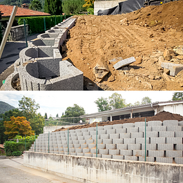 Giardiniere diplomato Lugano costruzione giardini e muri di sostegno e verduri