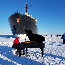 Konzert auf dem Eis