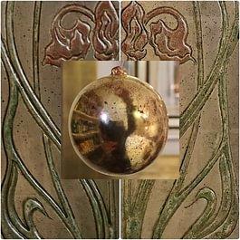 Vergoldete Holzkugel