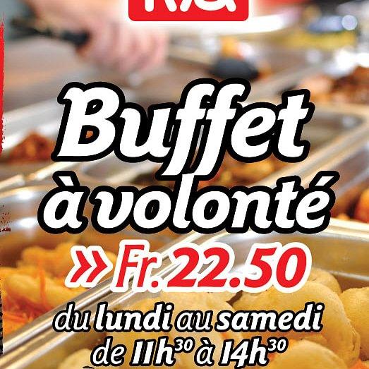 Buffet à volonté, Asian express gare de Lausanne