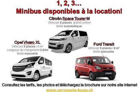 Location minibus 2 à 9 places / 6m3 de chargement