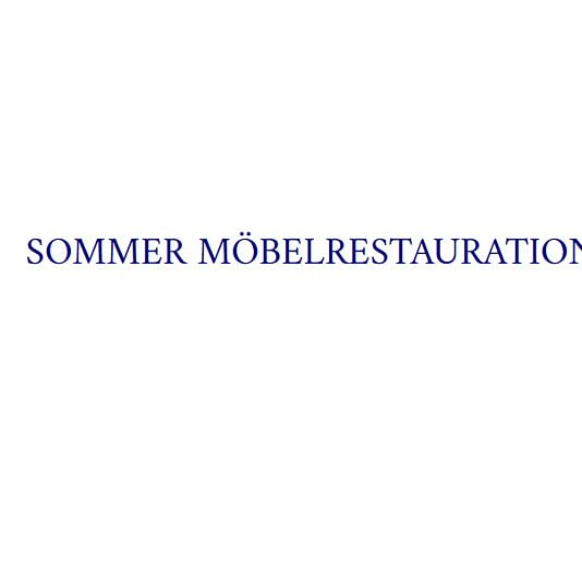 Möbelrestauration Sommer