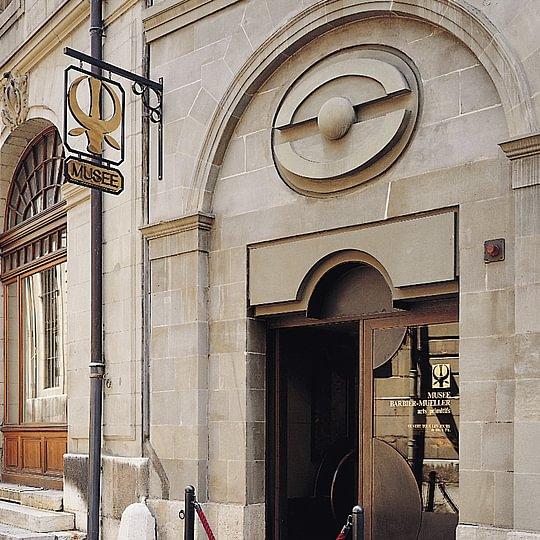 Porte d'entrée du musée Barbier-Mueller.