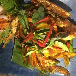pâtes de riz sauté aux crevettes et au piment
