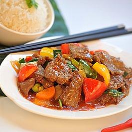 Riz bœuf Szetchuan