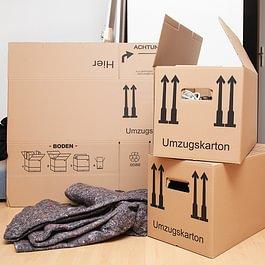 Umzugs-Shop mit Material zum kaufen und mieten
