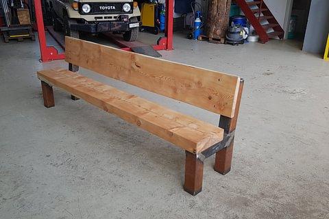 Panchina in legno - ferro