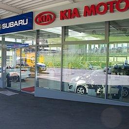 Eingang Opel, Kia, Subaru Showroom