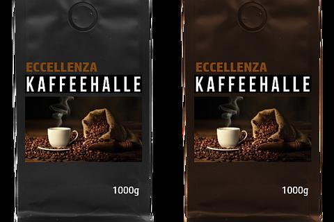 Kaffee, Eccellenza Kaffeehalle, Premium oder Gran Riserva, Espresso & Crema