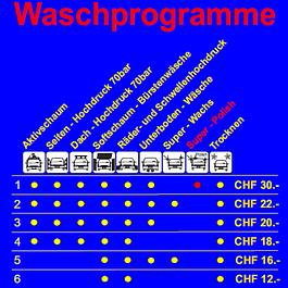 Waschprogramme ab 12.- Fr