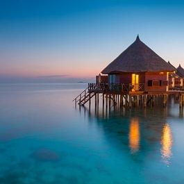 Wasserbungalows auf den Malediven