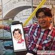 Digitale Karikaturen auf dem Smartphone, übertragen auf Grossbildschirm für Messeevent, Kundenevent, Marketing und als Attraktion