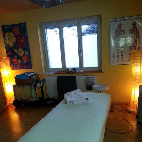 Einer unserer Behandlungsräume für Massage und Therapie