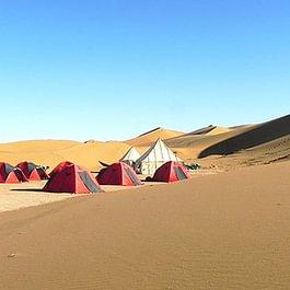 Biwak in der Wüste von Marokko